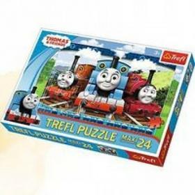 Tomek i przyjaciele Puzzle 24 maxi Wesołe lokomotywy TREFL