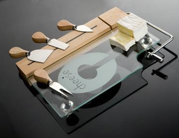 Brandani CHEESE BOARD Deski szklane Deska do serów z nożami, 57316