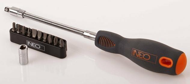 NEO-TOOLS wkrętak giętki z końcówkami 04-212