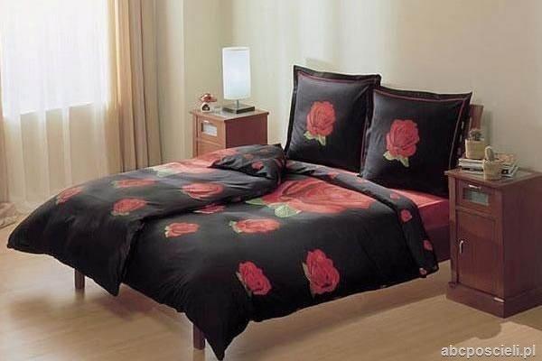 Pościel satyna Carmen black 2 x 160x220