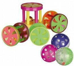 Trixie Plastikowe rolki z dzwoneczkiem dla kota - różne kolory TX-QX4099