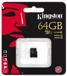 Kingston MicroSDXC class 10 UHS-I 64GB