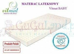 Vitmat Materac lateksowy 60x120 Baby Antyalergic