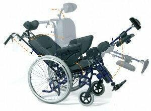 Vermeiren Wózek inwalidzki specjalny serenys