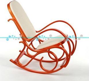 Calviano Fotel bujany jasne drewno i materiał - Fotel bujany jasne drewno i mate