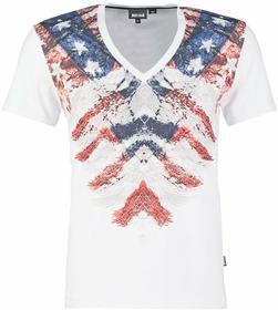 Just Cavalli T-Shirt z nadrukiem biały S01GC0285 N20543