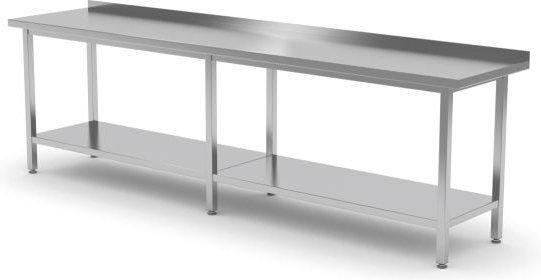 Polgast Stół przyścienny z półką 2500x700x850 (h) 103257-3