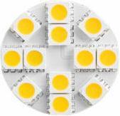 Whitenergy Żarówka 12 SMD5050 G4 ciepła 2,6W 12-24V