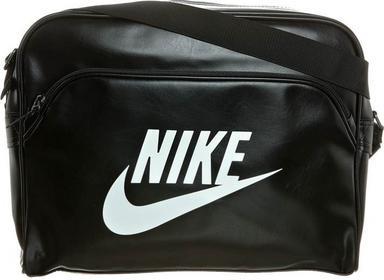 Nike Sportswear HERITAGE SI TRACK BAG Torby na ramię czarny NI154A001-801