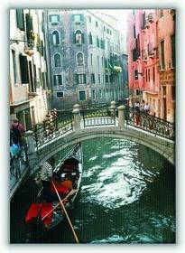 Wenecja, gondola - Obraz na płótnie