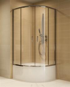 Cersanit CDOM11 90x90 profil chrom szkło transparentne + brodzik