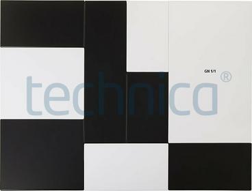 APS Taca serwingowa czarna GN 1/1, melamina | , Zero APS-84195