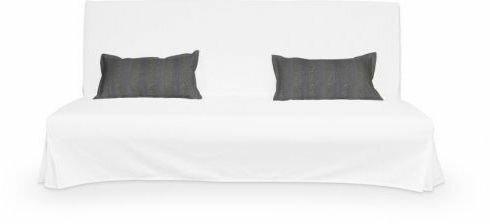 Dekoria 2 poszewki niepikowane na poduszki Beddinge Living szenilowe paski w kol