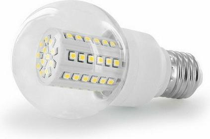 Whitenergy żarówka LED | E27 | 60 SMD | 3W | 230V | barwa ciepła biała 3000k | kulka B60