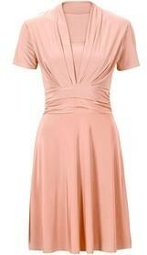 Bonprix Sukienka z drapowaniem 908620_50542 rudy