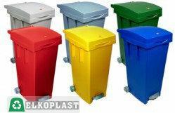 Elkoplast Kosz na śmieci z pedałem do segregacji odpadów BIGTATA 80 l - zielony