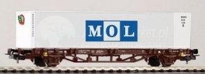 Piko Wagon z kontenerami Flat MOL BB V