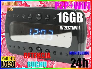 MINI KAMERA MONITORING 24h WiFi HD DET RUCHU +16GB Easy