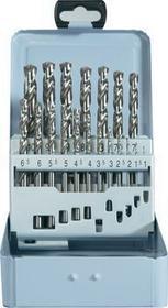 Wiertła kręte kobaltowe Toolcraft HSS-Co, DIN338 RN, zestaw 19 szt.