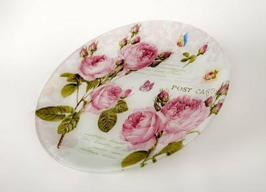 Witeks Talerz szklany 32cm Rose 7019