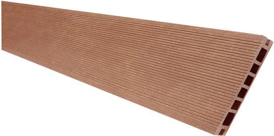 Deska tarasowa VIVA - kompozytowa ryflowana szczotkowana 24x145x2400mm Jasny Brą