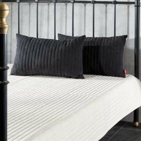 Dekoria Komplet Cream&Black Narzuta i poduszki, narzuta cm + 2 poduszki,