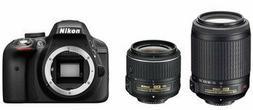 Nikon D3300 + 18-55 VR II + 55-200 VR II