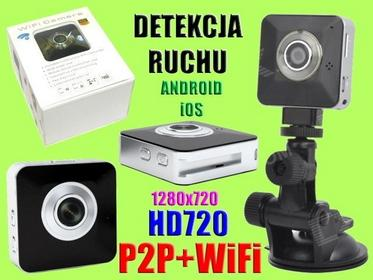 MINI KAMERA HD720 PODGLĄD WiFi ANDROID iPhone iOS Easy-mk6