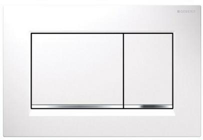 Geberit Sigma 30 przycisk do wc biały chrom biały 115883KJ1 115.883.KJ.1