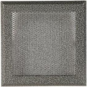 888 88830925 Kratka kominkowa stare srebro 16/16cm