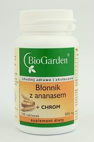 Biogarden Błonnik z ananasem + chrom 100 tabletek
