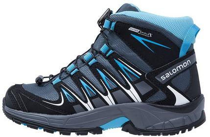 Salomon XA PRO 3D MID CS WP Buty trekkingowe grey denim/black/methyl blue L37308