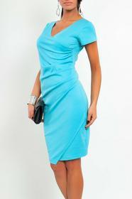DaWanda.pl Marszczona sukienka elegancka niebieski 119 93757307 female