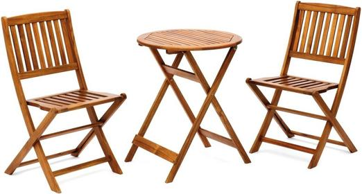 Komplet mebli balkonowych drewnianych - 256568