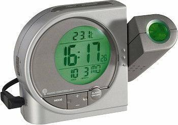 Conrad Zegar cyfrowy z projektorem , DCF, 2 alarmy, data, zmienny kolor projekcji