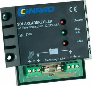 Kontroler ładowania słonecznego Conrad 6 A 12/24 V