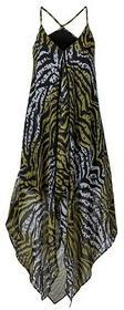 Bonprix Sukienka plażowa zielono-oliwkowy zebra 920847