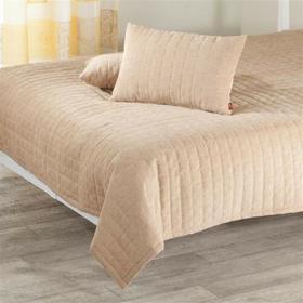 Dekoria Komplet Beige Narzuta i poduszki, narzuta 135x210cm + 2 poduszki, 60x40c