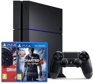 Sony PlayStation 4 1 TB Czarny + Driveclub + Uncharted 4