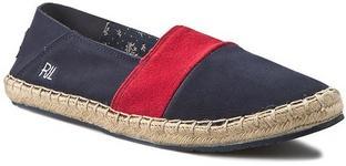Pepe Jeans Espadryle - Tourist Slip On Mix PMS10136 Marine 585 skóra naturalna -