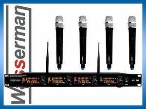 Voice Kraft Zestaw 4 mikrofonów bezprzewodowych VK 840