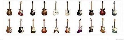 Classic Guitars - Obraz, reprodukcja