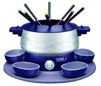 Tefal Zestaw do fondue EF351412 / 800W / regulowany termostat / 2 miseczki / 8 widelczyków 3168430719545