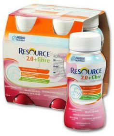 Nestle Health Science RESOURCE 2.0 Fibre ZESTAW 4x 200ml - OWOCE LEŚNE
