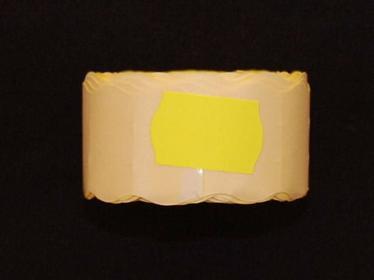 Rolka do metkownicy dwurzędowej - 2,6x1,6cm zółta falista 00925