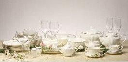 Aristocratica Porcellana *DESIRE GOLD Zestaw obiadowy 12/49 BONE CHINA