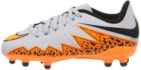 Nike Performance HYPERVENOM PHELON II FG Korki Lanki wolf grey/total orange/blac