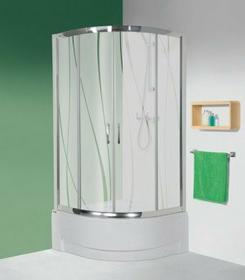 Sanplast Tx 5 90 KP4/TX5-90/165 90x90 profil srebrny szkło CR + brodzik