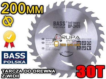 Bass Polska PIŁA TARCZA tarcza do drewna WIDIOWA 200x32,2mm 30T