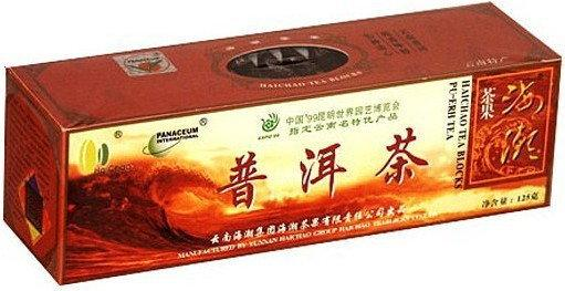 Panaceum Herbata czerwona Pu Erh prasowana w kostkach - 125 g